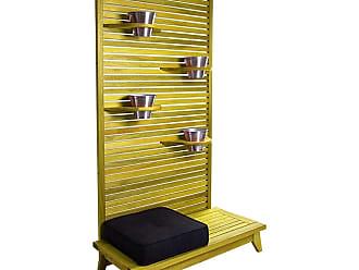 Mão & Formão Jardim Amarelo Vertical Zen Completo com Almofada PretaAmarelo