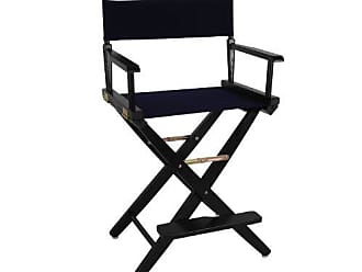 Yu Shan American Trails Extra-Wide Premium 24 Directors Chair Black Frame with Navy Canvas, Counter Height