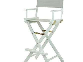 Yu Shan Casual Home 30 Directors Chair White Frame-with Grey Canvas, Bar Height