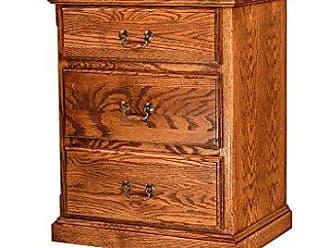 Forest Designs Traditional Oak Three Drawer Nightstand, 25 W x 30 H x 18 D, Ebony Oak