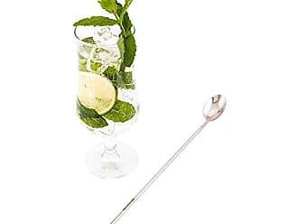 Restaurantware Muddler & Spoon - Muddler Barspoon - 12 - Professional Grade - Stainless Steel - Silver Mixing Spoon with Muddler Top - 1ct Box - Restaurantware