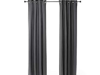 Furinno 2-FC66005DGY Collins Curtain 52x95 inches Dark Grey