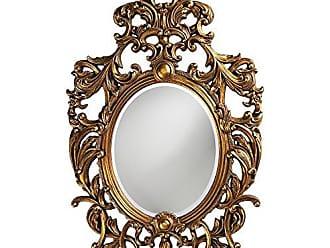 Howard Elliott 2146 Dorsiere Oval Mirror Gold Leaf