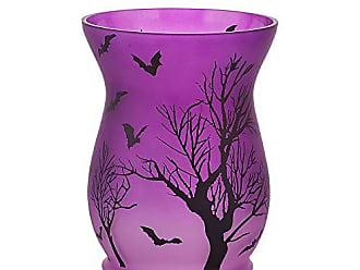 Pavilion Hand Painted Floral Frosted Glass Tealight Wax Warmer 6 Inch