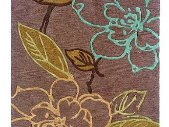 Linon Linon Trio Collection Space Dyed Thistle & Blue 1.10 x 2.10 Thistle