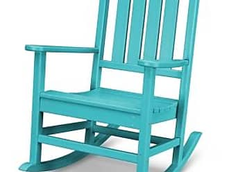 Ashley Furniture POLYWOOD Emerson All Weather Rocker, Turquoise