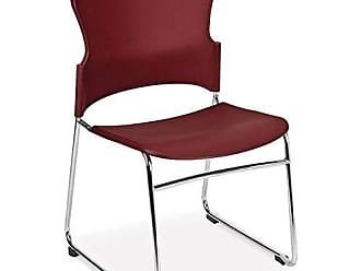 OFM 310-P-4PK-A10 Fabric Multi-Use Stacking Chair, Wine (Pack of 4)
