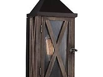 Feiss Lumiere Cross-Hatched Outdoor Wall Sconce