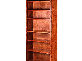 Forest Designs Mission Birch Bookcase Unfinished Alder, Size: 72 in. - B6125- MA-72H-UA