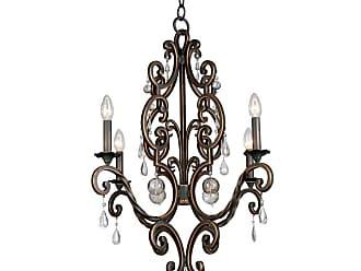 Kalco Montgomery 4-Light Chandelier in Antique Copper