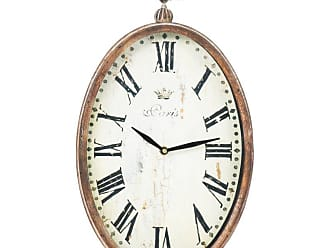 Zentique 9 in. Paris Oval Wall Clock - PC006