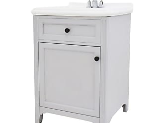 222 Fifth Hamilton Rectangular Single Sink Bathroom Vanity White - 7046WH900A1J07