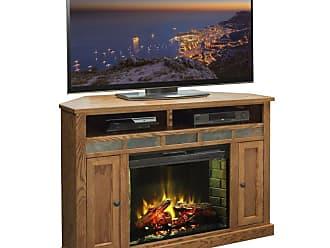 Legends Furniture Oak Creek 56 in. Electric Media Corner Fireplace - OC5102.GDO