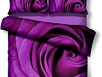 Parure de lit Parure de lit Violet Prune Housses de couette parure de lit en microfibre garnituren 155x220 violett Microfibre
