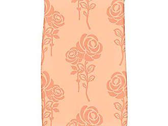 E by Design KTFN500OR4OR10 Carmen Floral Print Kitchen Towel, 16 x 25, Peach