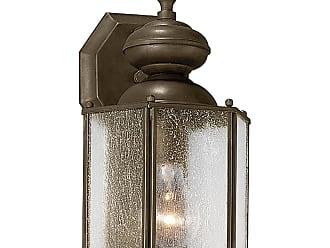 PROGRESS Roman Coach Antique Bronze 1-Lt. wall lantern. with Clear seeded glass panels