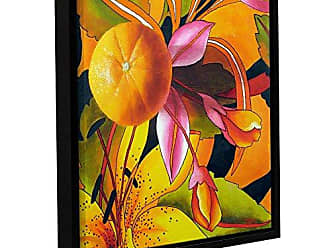 ArtWall Marina Petros Love of Orange Gallery-Wrapped Floater-Framed Canvas, 18 by 18