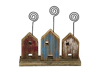 Foreside Home And Garden House Photo Holder Trio, Blue, Brown