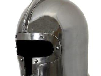 Urban Designs Imported Antique Replica 15th Century Italian Barbuta Battle Amor Helmet, Silver