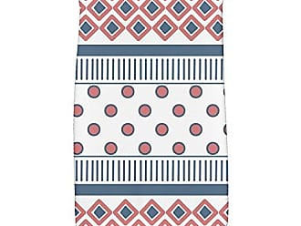E by Design E by design Scrambled Geometric Print Hand Towel 16 x 25 Orange/Coral