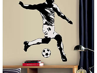 RoomMates Adesivos de Parede Roommates Colorido Soccer Player Peel & Stick Giant Wall Decals