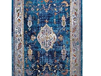 Home Dynamix XC24B-496 Parlin Aster Area Rug 53 X 69 Navy-Ivory