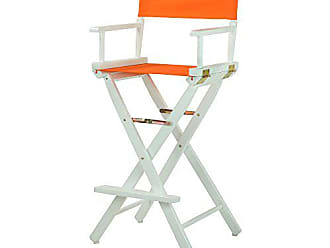 Yu Shan Casual Home 30 Directors Chair White Frame-with Tangerine Canvas, Bar Height