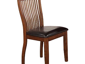 Winners Only Slat Back Side Chair with Cushioned Seat - Set of 2 - WIN796-1