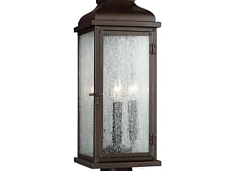 Feiss Pediment 2 - Light Outdoor Post in Dark Aged Copper
