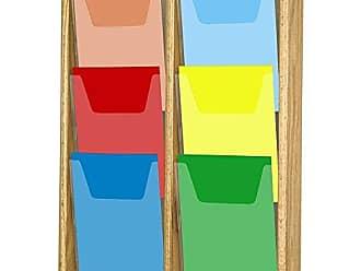 Wooden Mallet 6-Pocket Stance Wall Display, Light Oak