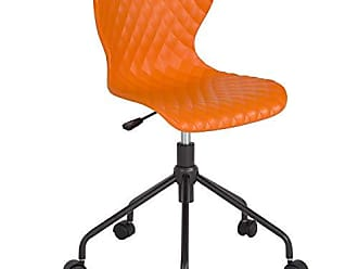Flash Furniture Brockton Contemporary Design Orange Plastic Task Chair