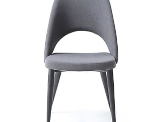 Whiteline Audrey Fabric Dining Chair - Set of 2 - DC1473-NVY