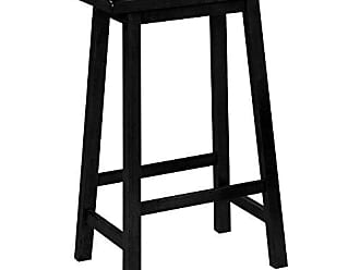 c0983cc0e42 Monarch Specialties 2-Piece Distressed Saddle Seat Barstools