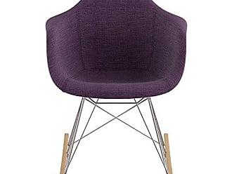 NyeKoncept 332005RO1 Mid Century Rocker Chair, Plum Purple