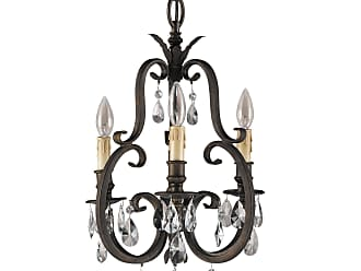 Feiss F2226/3ATS Salon Maison Chandelier - Mini Duo in Aged Tortoise Shell finish