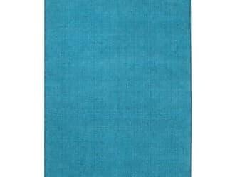 Overstock Hand-loomed Tatum Solid Wool Area Rug (Sky - 9 x 13)