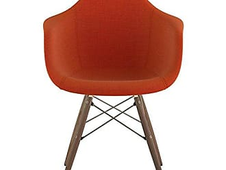 NyeKoncept 332004EW2 Mid Century Dowel Arm Chair, Lava Red