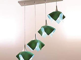 Auremar Lustre Pendente Color C/4 Trilho - Verde Auremar