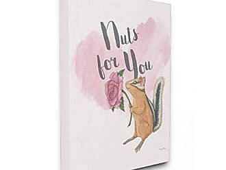 Stupell Industries Im Nuts For You Pink XXL Stretched Canvas Wall Art, Proudly Made in USA