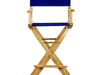 Yu Shan Casual Home 30 Directors Chair Natural Frame-with Roayl Blue Canvas, Bar Height