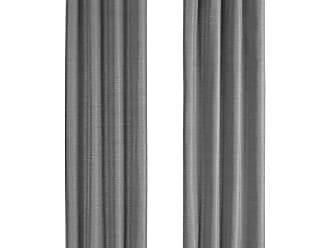 Monarch Specialties I 9841 Curtain Panel Blackout, Textured Finish 84 H Grey
