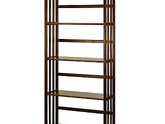 Yu Shan Casual Home Mission Style 5-Shelf Bookcase, Walnut