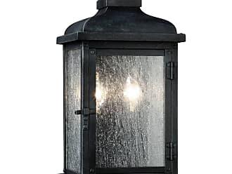 Feiss Pediment 2 - Light Outdoor Sconce in Dark Weathered Zinc