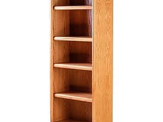 Forest Designs Bullnose Oak Bookcase Unfinished Alder, Size: 96 in. - 6103- BG-96H-UA