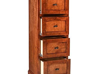 Forest Designs Traditional Four Drawer File Cabinet Unfinished Alder - B1034- MA-UA