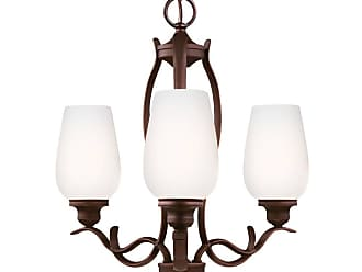 Feiss Standish 3 - Light Chandelier in Oil Rubbed Bronze with Highlights