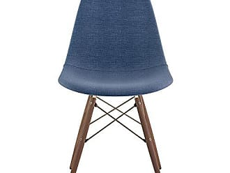 NyeKoncept 331006EW2 Mid Century Dowel Side Chair, Dodger Blue
