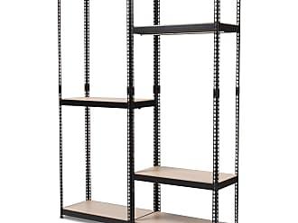 Baxton Studio Gavin Metal 7-Shelf Closet Storage Racking Organizer - WH06/WH09-WHITE-SHELF
