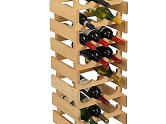 Wooden Mallet 21 Bottle Dakota Wine Rack, Unfinished