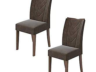 Lopas Conjunto 02 Cadeiras Atacama Imbuia Naturale Lopas